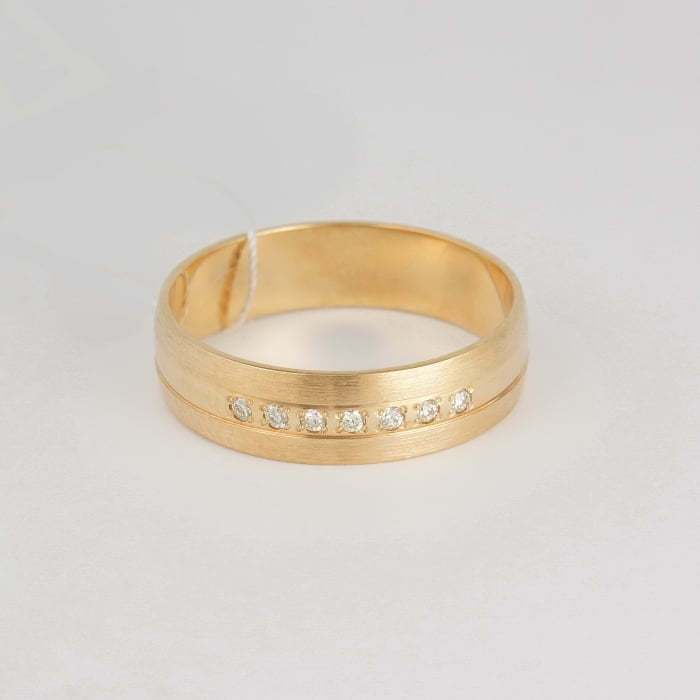 f88ea7ca45fe Обручальное кольцо из красного золота 7 бриллиантов - Золото с ...